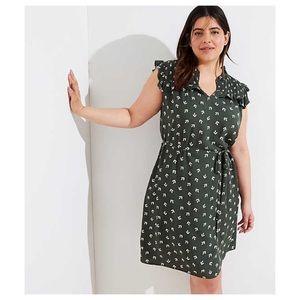 Green LOFT Work Dress